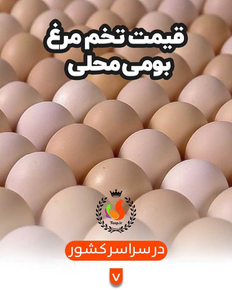 قیمت تخم مرغ محلی
